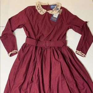 Collectif Vintage London Wine colored dress NWT